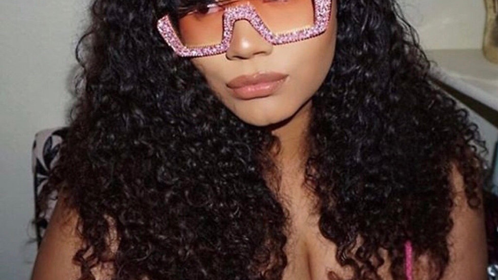 🌟Pink lense Glitter my sunglasses