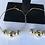 Thumbnail: Tri Gold Medium hoop earrings