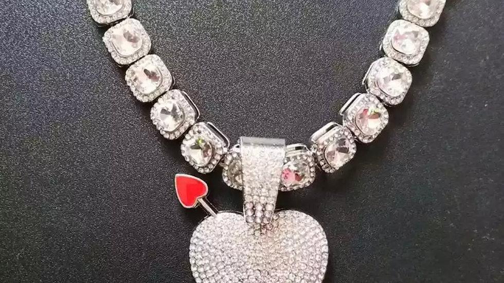Silver Cubic Zirconia Tennis necklace