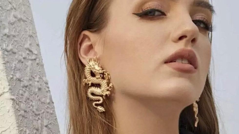 Gold Dragon 🐉 Earrings