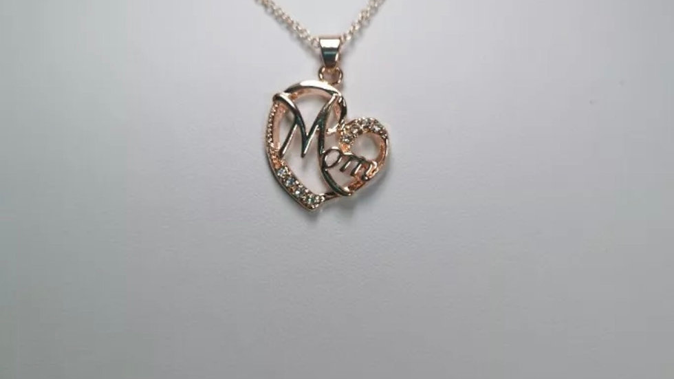 MOM Gold Stainless Steel Necklace