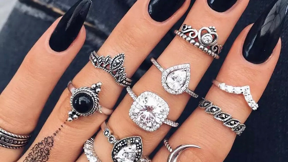 Layered Knuckle Bohemian rings