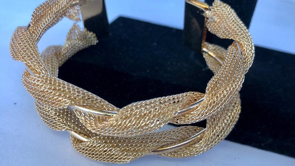 Gold Twisted cuff bracelet