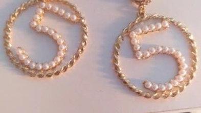 ⭐️Luxury  gold & pearl earrings