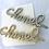 Thumbnail: Silver Crystal designer hair pin