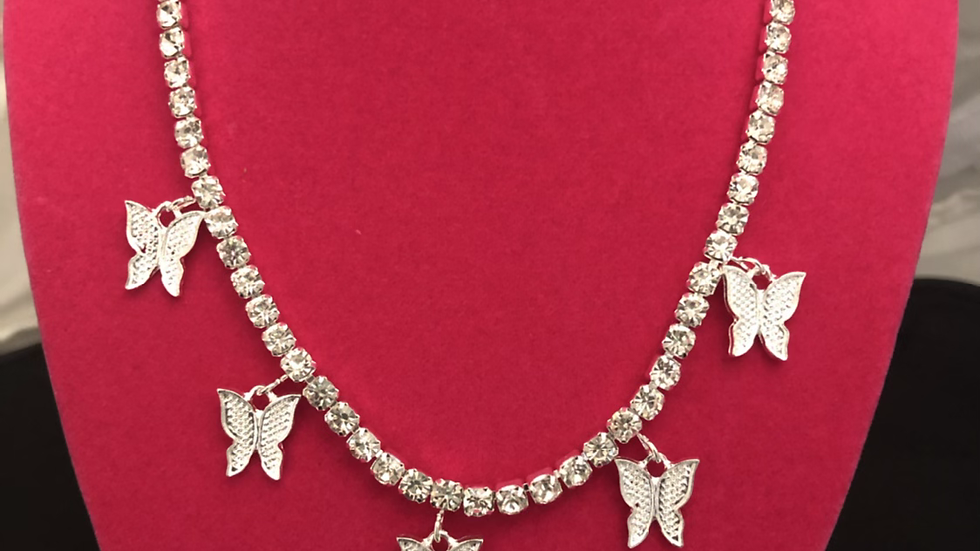 Cubic Zirconia Premium Butterfly 🦋 necklace