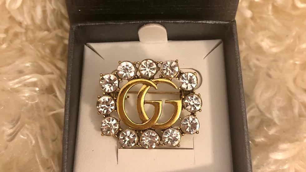 ⭐️GG Gold Crystal Small Luxury Brooch