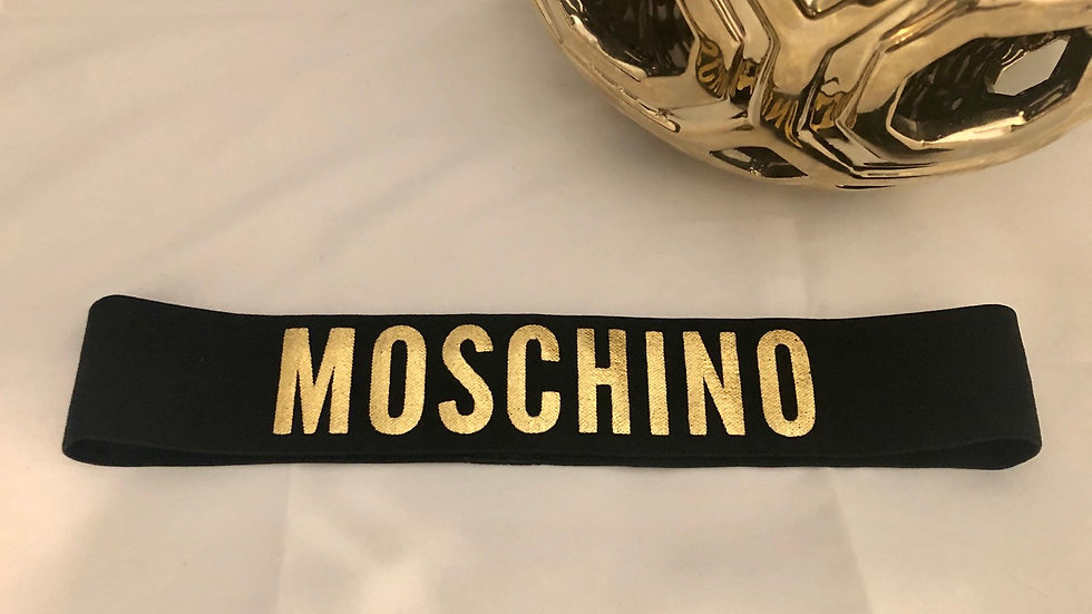 Moschino elastic headband
