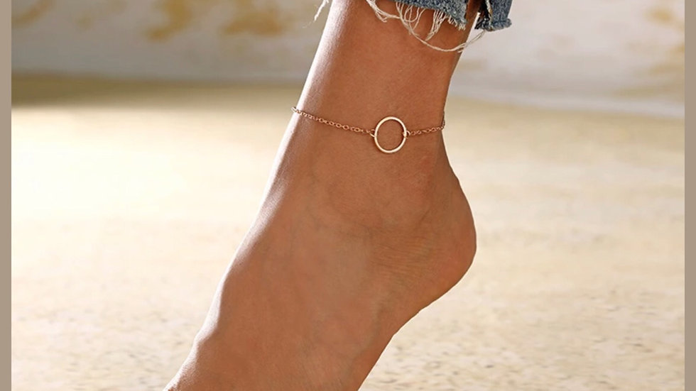 Gold Circle Chain Anklet