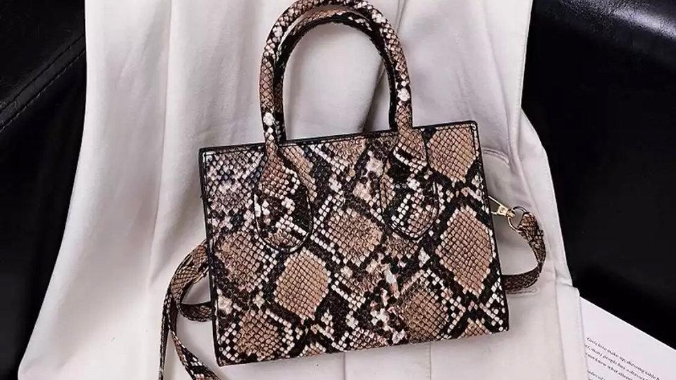 Snake 🐍 Print mini Pu leather handbag