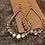 Thumbnail: Gold & Crystal Pearl Shaped Earrings