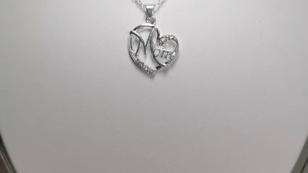 MOM Silver Stainless Steel Necklace