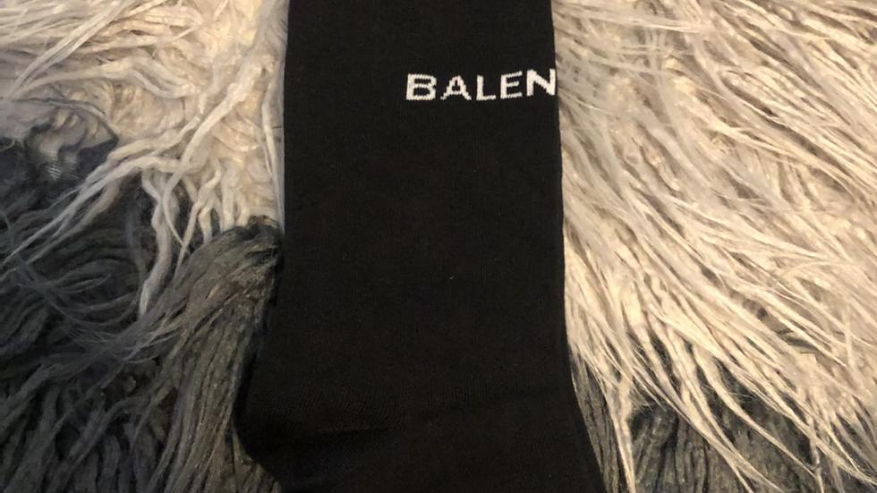 Balenciaga Black Designer Socks
