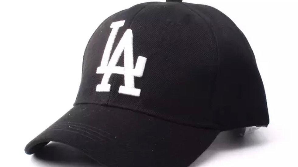 Unisex Black & white Dodgers baseball hat