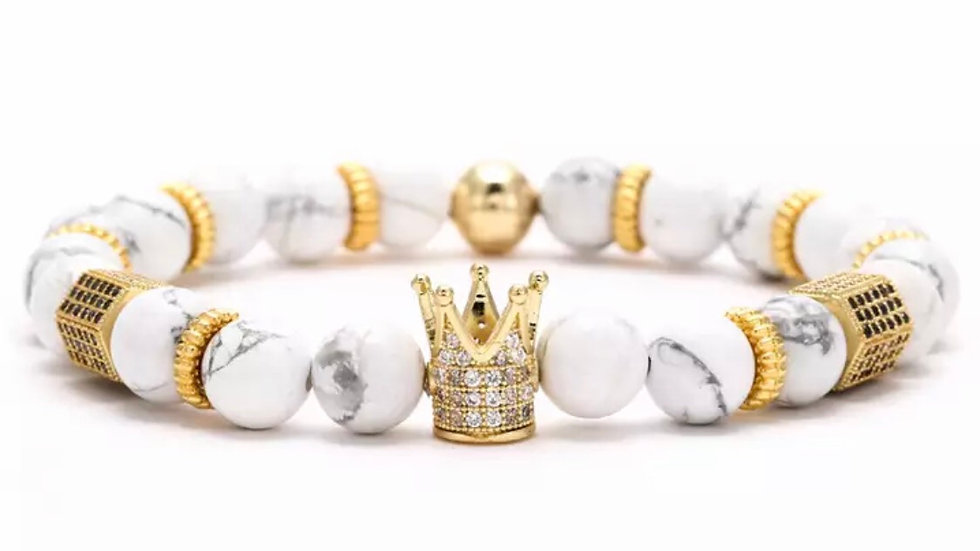 White & Gold beads