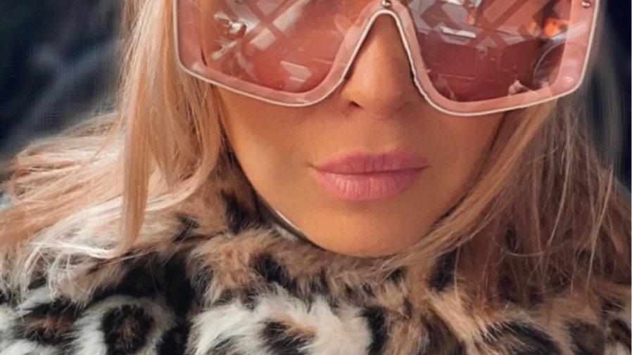 Pink panther Fendi style glasses