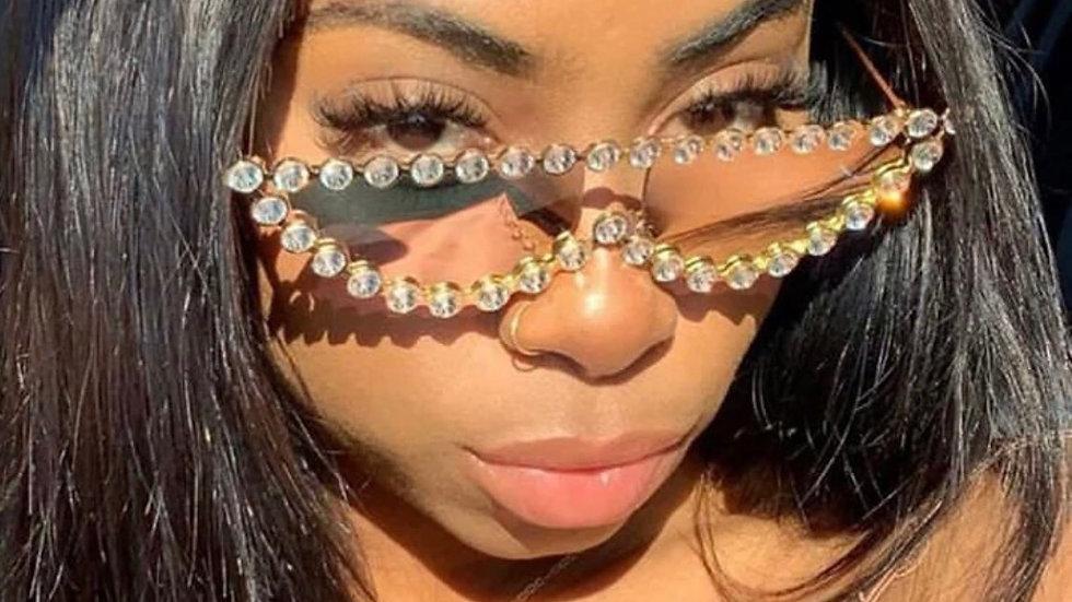 Luxury vintage Crystal Cat Eyes