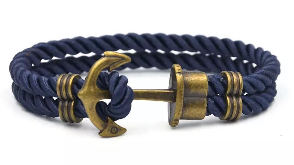 Men  navy blue  rope style bracelet