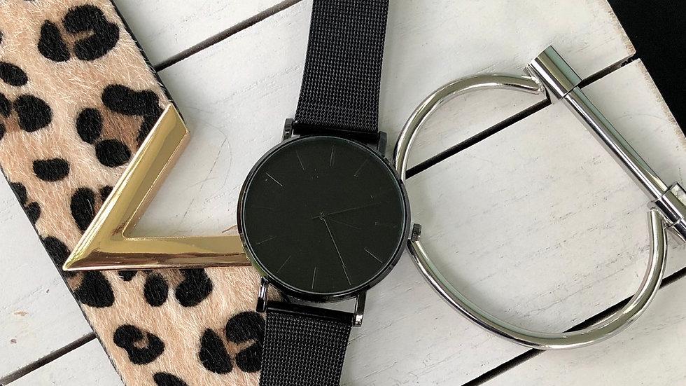Matte Black Quartz Watch