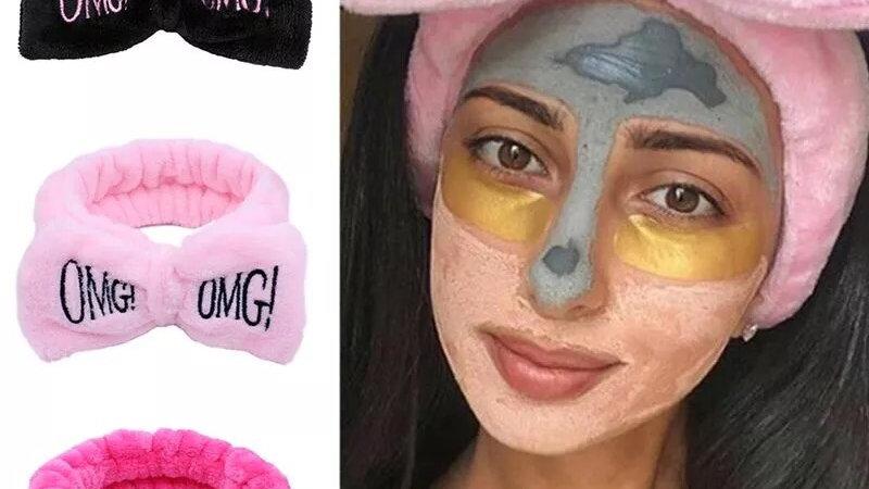 ⭐️Black face wash headband