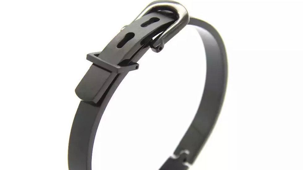 1 Black Titanium Steel Buckle Bracelet