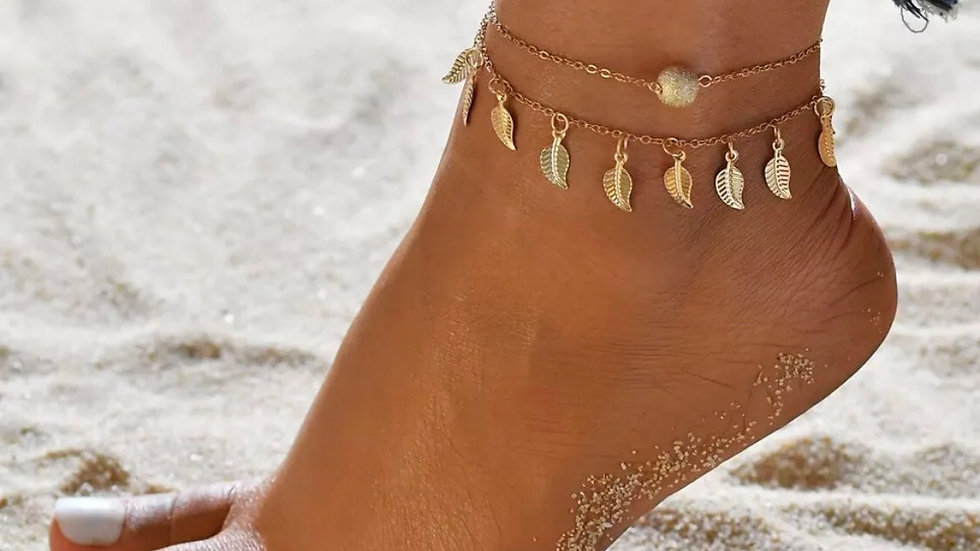 Gold Boho Ankle bracelet