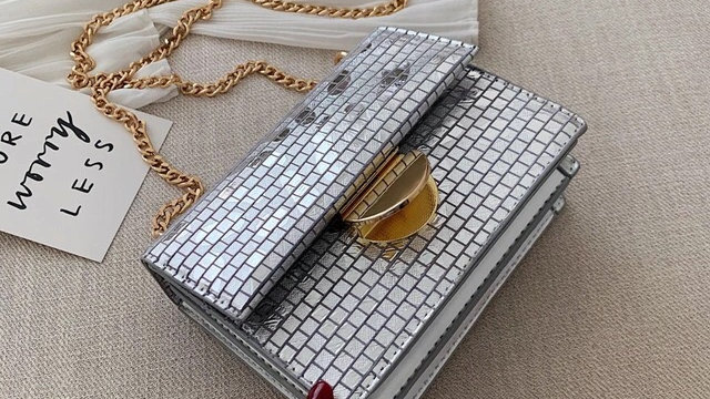 🌟Silver & gold luxury shoulder bag