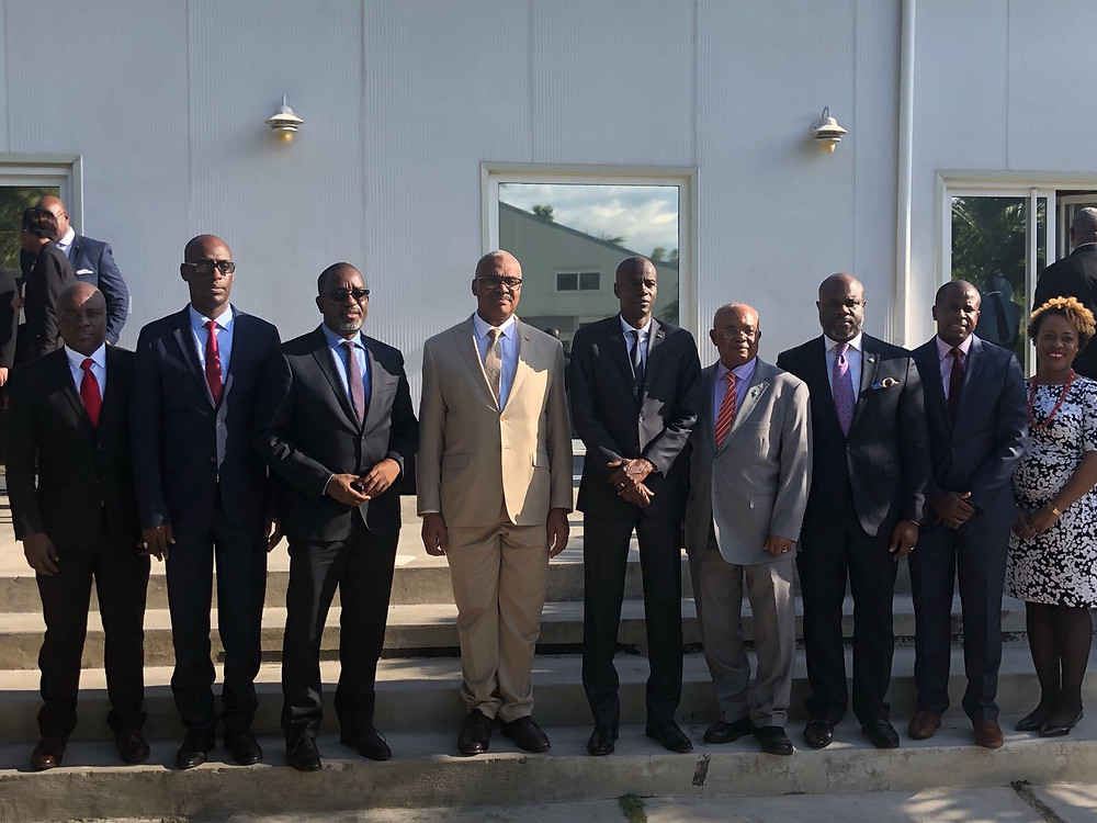 Meeting with Haitian President at National Palace