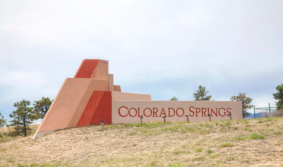 Colorado Springs Welcome Sign
