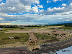 A drone picture for a construction site in colorado springs
