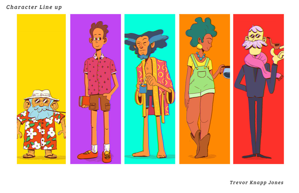 The Line Up of characters