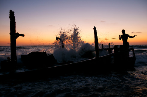 Boy Fishing - Israel
