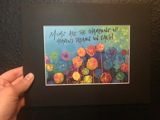 5x7 of Mom's are Champions