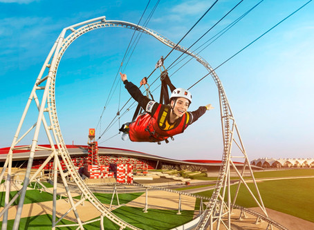 Take a walk on the roof or zip through Ferrari World