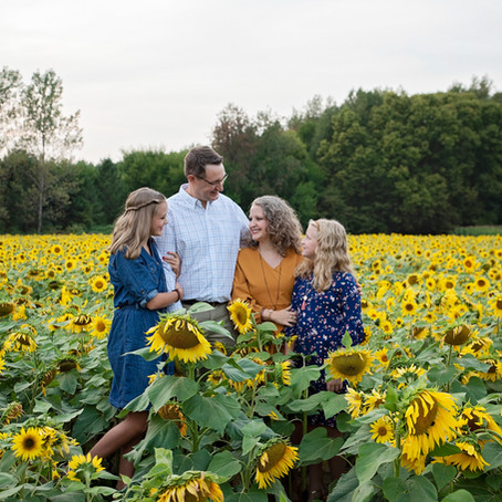 VanderReyden | Sunflower Field Photography | Thistleberry Farms, South Bend, Indiana