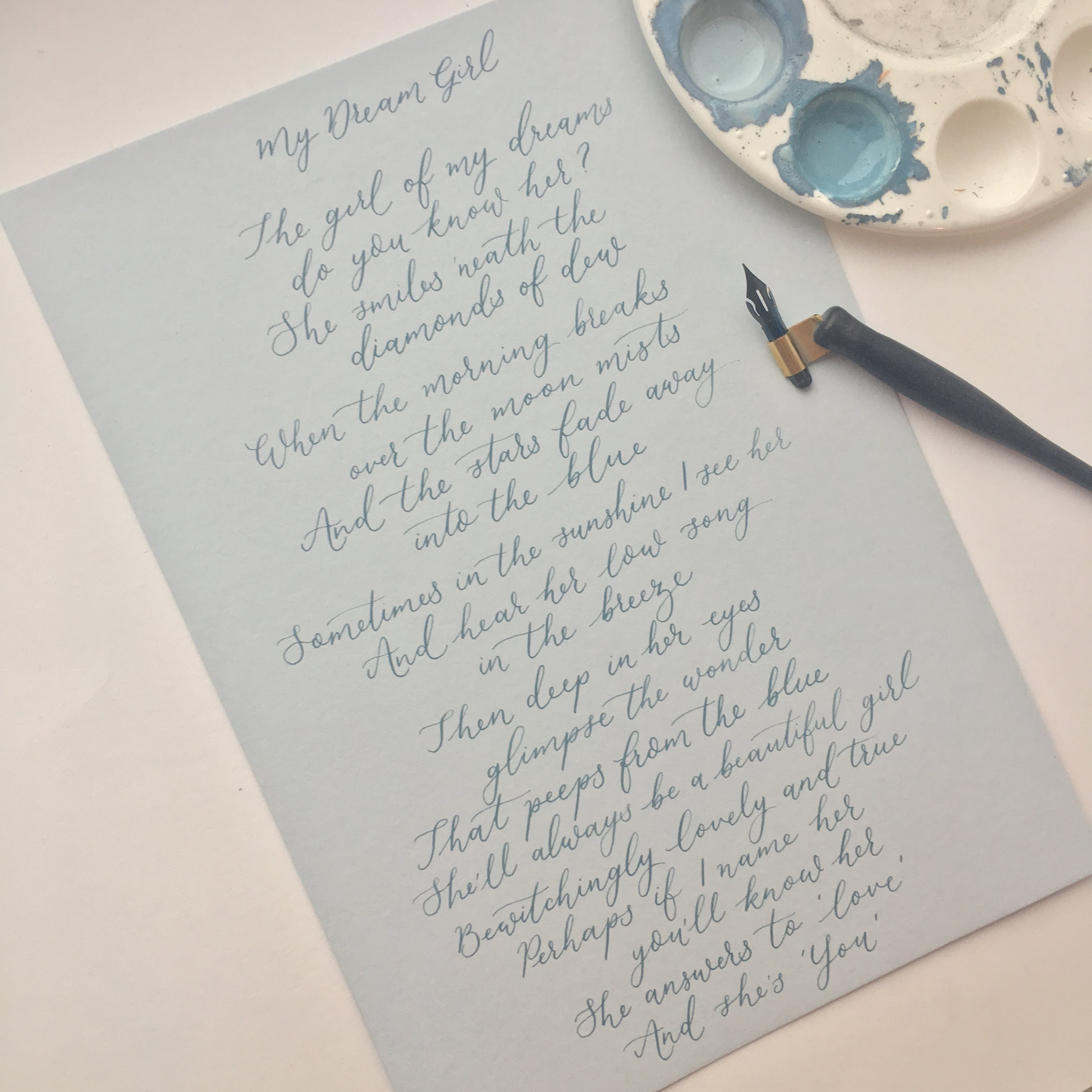My-Dream-Girl-Calligraphy-Poem