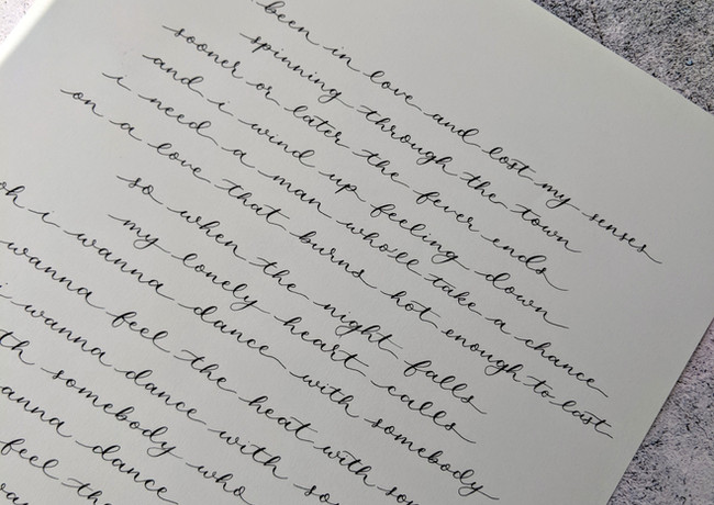 first-dance-lyrics-calligraphy