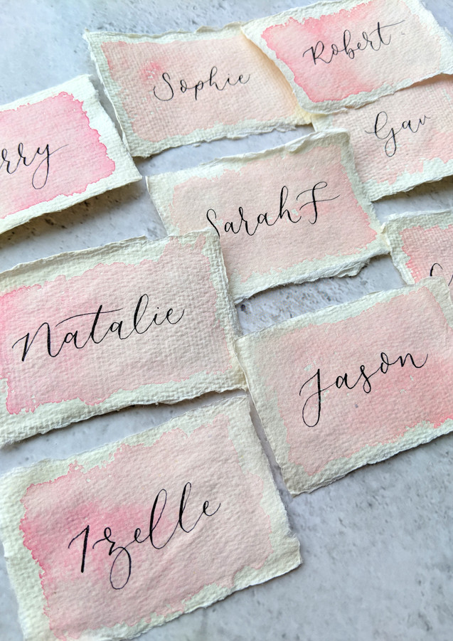 wedding-place-cards-watercolour-calligraphy