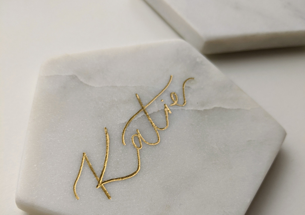 calligraphy-engraved-marble-coaster