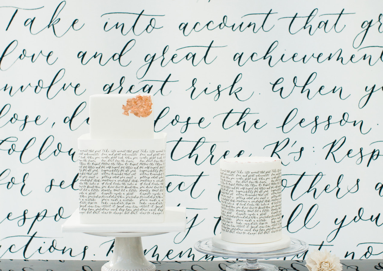 calligraphy-cakes-printed-backdrop-wedding