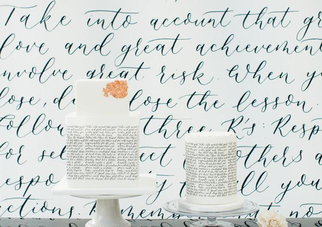 calligraphy-cakes-printed-backdrop-wedding