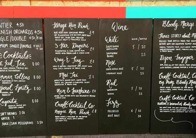 chalkboard-drinks-menu-london-bar