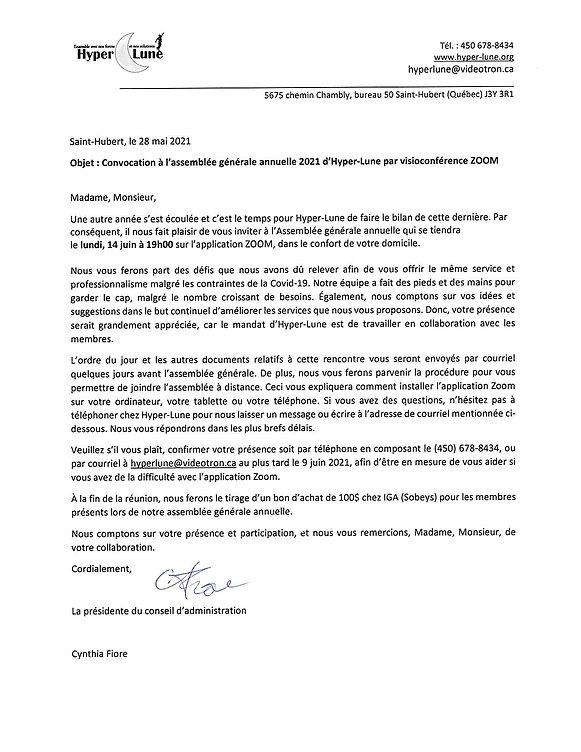 1- LETTRE DE CONVOCATION AGA 14 JUIN 202