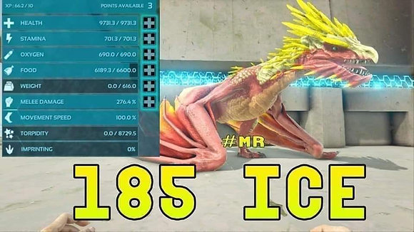 Unleveled 185 Ice Wyvern ( Official PS4 PvP )