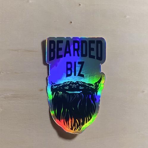 Bearded Biz Holo Sticker