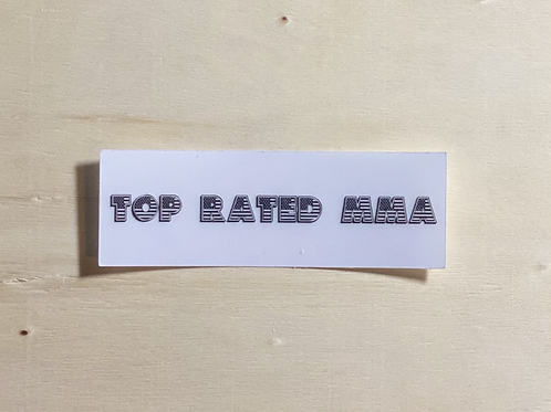 Top Rated MMA Flag Sticker