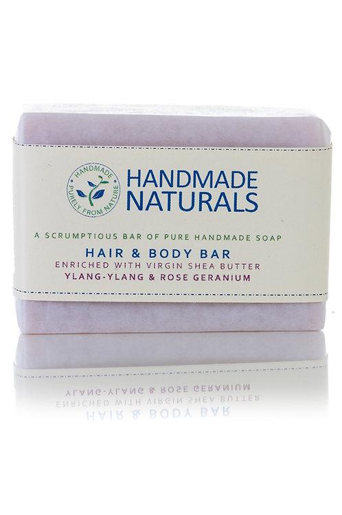 Ylang and Geranium Hair and Body Soap Bar