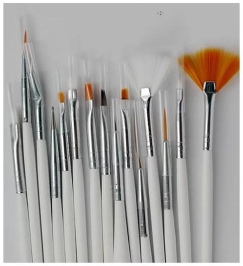 15 Piece Nail Art Design Brush Set Nailart Dudley Nailzy Glitters