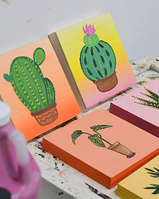 Paint Night Plants