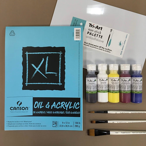 Kit #1 - Intro to Fluid Acrylic
